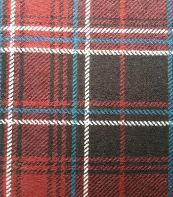 """3 Yard Pre-Cut Snuggle Flannel Fabric 42""""-Burgundy Plaid"""