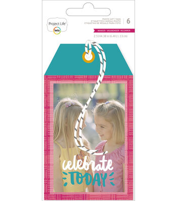 Project Life Wander 2.51''x4.38'' Hang Photo Gift Tags with Pocket