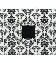 Amercian Crafts 12''x12'' 3-Ring Album-Black & White Damask, , hi-res