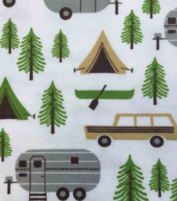 "Snuggle Flannel Fabric 42""-Camping Trip"