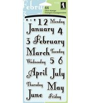 Inkadinkado Clear Stamps-Months & Days, , hi-res