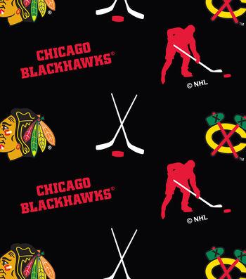 Chicago Blackhawks Fleece Fabric 60''-Tossed
