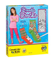 Creativity For Kids DOODLE SOCKS, , hi-res