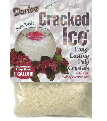 Darice® Cracked Ice Decorative Crystals-Clear