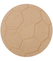 "MDF Wood Shape Soccer Ball 9.1""x9.1"", , hi-res"