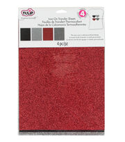 Tulip® Fashion Glitter™ Iron-On Shimmer Transfer Sheets Twilight, , hi-res