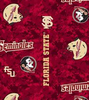 "Florida State University Seminoles Fleece Fabric 58""-Modern Block, , hi-res"
