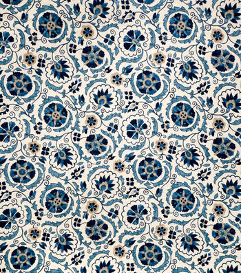"Jaclyn Smith Upholstery Fabric 54""-Clarinet/Cobalt"