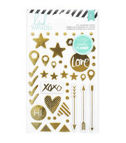 Heidi Swapp Hello Beautiful Foil Chipboard Stickers, , hi-res