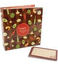 5\u0027\u0027x7\u0027\u0027 Family Recipes 3-Ring Scrapbook Kit-Garden