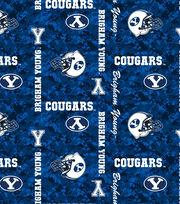 "Brigham Young University Cougars Fleece Fabric 43""-Digital, , hi-res"