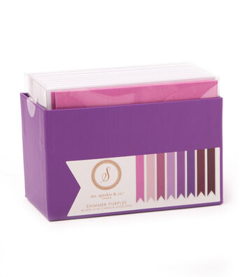 Ms. Sparkle & Co. A2 Shimmer Cards & Envelopes-Purples