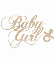 Kaisercraft Wood Flourish Pack Baby Girl, , hi-res