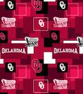 University of Oklahoma Sooners Cotton Fabric 43\u0027\u0027-Modern Block