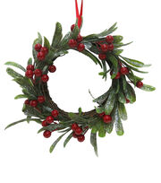 Blooming Holiday Christmas 9'' Red Berry & Grapevine Mini Wreath, , hi-res