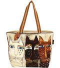 Laurel Burch Shoulder Tote 19\u0027\u0027x4\u0027\u0027x15\u0027\u0027-Ancestral Cats