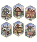 Dimensions Gold Collection Christmas Village Ornaments Cntd X-Stitch Kit