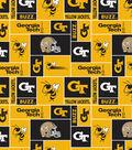 Georgia Tech Yellow Jackets Fleece Fabric 58\u0022-Block