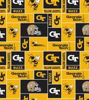 "Georgia Tech Yellow Jackets Fleece Fabric 58""-Block, , hi-res"