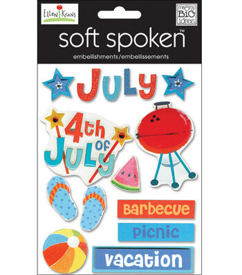 Me & My Big Ideas Soft Spoken Embellishments-July