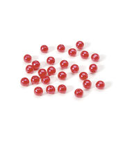 6mm Round Pearl Bead, Red, 120pcs/pkg., , hi-res