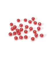 6mm Round Pearl Bead, Red, 120pcs/pkg., , hi-res