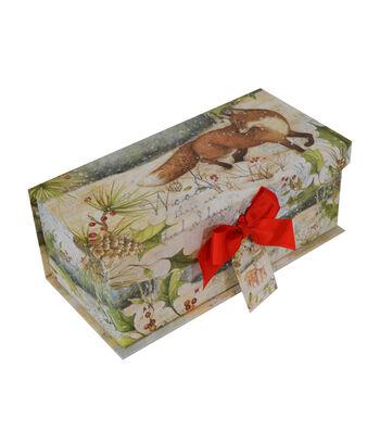 Maker's Holiday Medium Flip Top Box-Winter Rustic