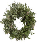 Blooming Holiday 12\u0027\u0027 Eucalyptus Wreath