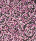 Simply Silky Print Fabric Medallions Wide Silver Lurex Black & Purple
