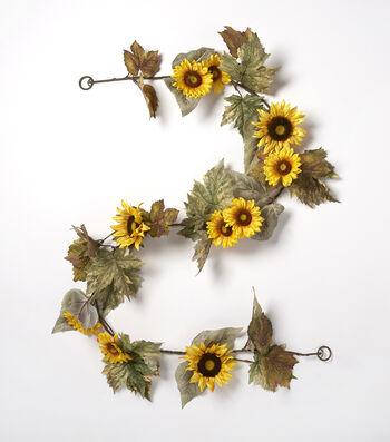 Blooming Autumn 66'' Small Sunflower Garland