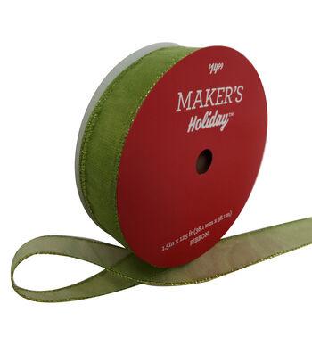 Maker's Holiday Christmas Value Ribbon 1.5''x125'-Light Green