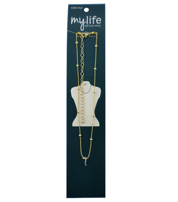 hildie & jo™ My Life 20'' Gold Necklace with Balls