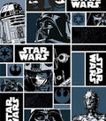 Star Wars™ Cotton Fabric 44\u0027\u0027-Characters in Block