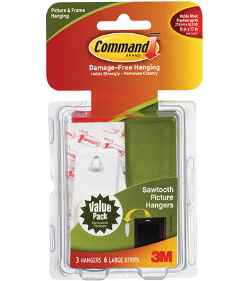 Command Saw Tooth Picture Hanger Combo