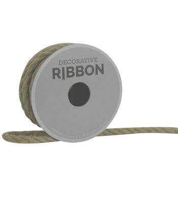 Decorative Ribbon 6mm Cord Ribbon-Natural