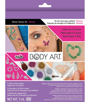 Tulip Body Art Glitter Tattoo Kit-Vibrant