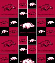 "University of Arkansas Razorbacks Cotton Fabric 43""-Block, , hi-res"
