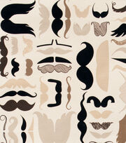"Alexander Henry Cotton Fabric 44""-A Must Stache Tea, , hi-res"