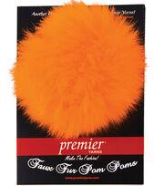 Faux Fur Pom Pom-Orange Fizz, , hi-res