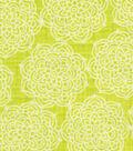 Keepsake Calico Cotton Fabric-Pam\u0027s Pineapple Medallion On Lime