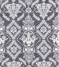Luxe Flannel Fabric 42\u0022-Damask Gray Heather