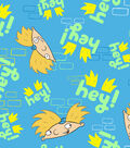Nickelodeon® Hey Arnold Fleece Fabric 59\u0022-Characters On Brick