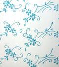 Glitterbug Sheer Fabric 59\u0022-Floral Glitter