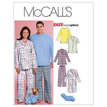 McCall's Patterns M5992 Adult & Pet Sleepwear-Size L-XL