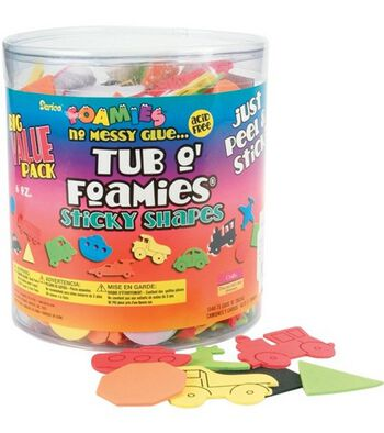 Tub O' Foamies Cars/Trucks Sticky Back Shapes