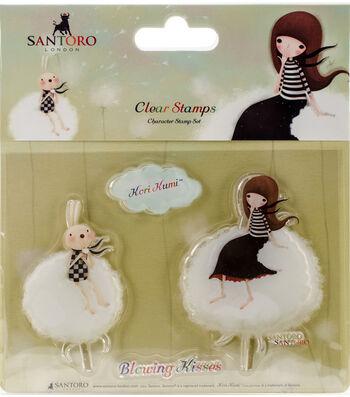 Santoro Kori Kumi A6 Character Stamps-Blowing Kisses