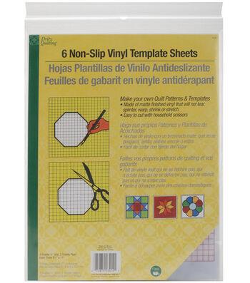 "Dritz Quilting 8.5"" x 11"" Non-Slip Vinyl Template Sheets 6pcs"