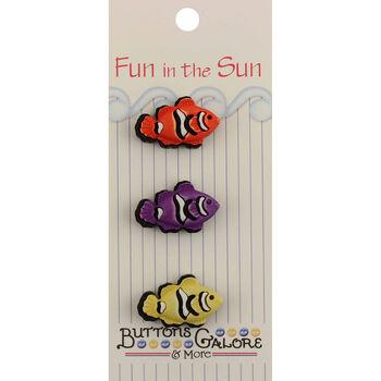 Fun In The Sun Buttons-Clown Fish