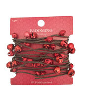 Blooming Holiday Christmas 9' Bell Roping Garland-Red, , hi-res