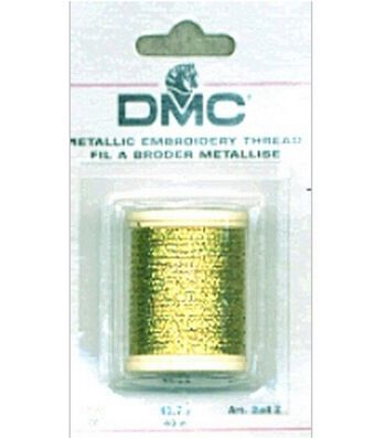 DMC Metallic Embroidery Thread 43.7 yards-Gold